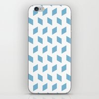 Rhombus Bomb In Dusk Blu… iPhone & iPod Skin