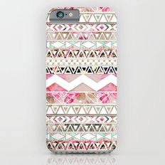 Aztec Spring Time! | Girly Pink White Floral Abstract Aztec Pattern iPhone 6 Slim Case