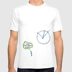 Shattered Frozen Time SMALL White Mens Fitted Tee