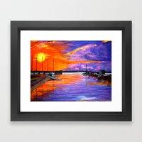 Sunset Harbor Framed Art Print