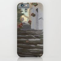 iPhone & iPod Case featuring Italian Street and Stairs  by sarah mah