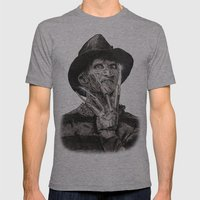 Freddy Krueger Mens Fitted Tee Athletic Grey SMALL