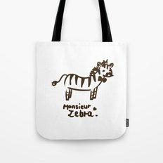 Monsieur Zebra  Tote Bag