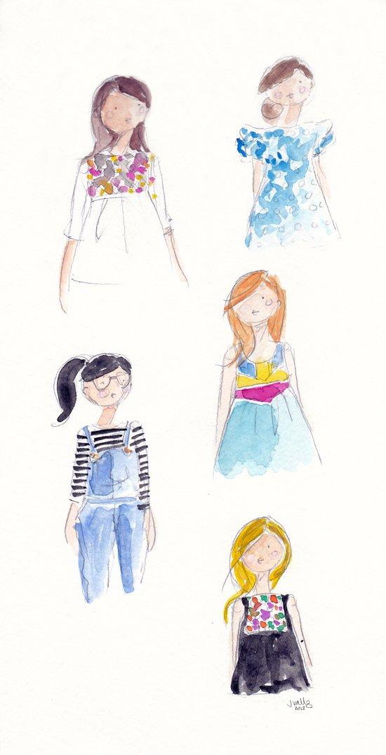 Anthropologie Girls Art Print