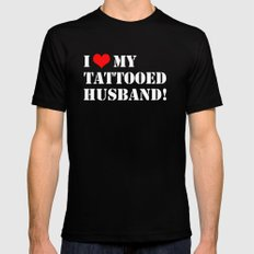 Tattooed Husband Mens Fitted Tee Black SMALL