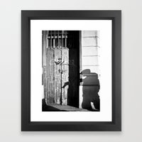 Photographer's Shadow Framed Art Print