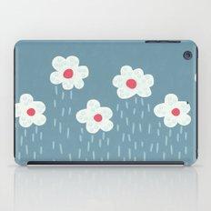 Rainy Flowery Clouds iPad Case