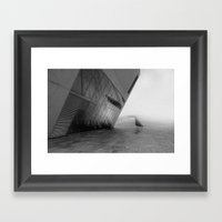 Tectonic Dive Framed Art Print