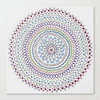 Mandala Smile B Canvas Print