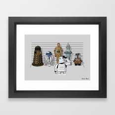 Star Wars Droid Lineup Framed Art Print
