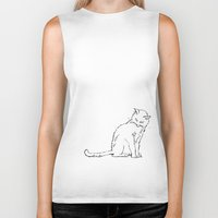 Cat illustration Biker Tank