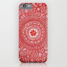 Poinsettia Mandala iPhone 6 Slim Case