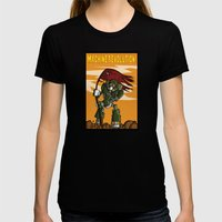 Machine Revolution Womens Fitted Tee Black SMALL