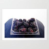 Blackberries Art Print