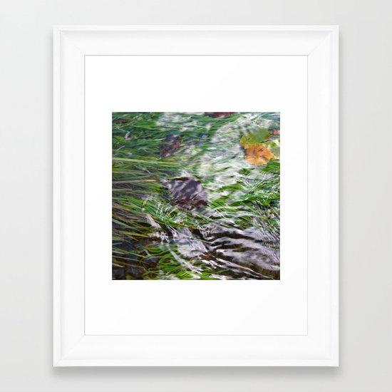 wild stream I Framed Art Print