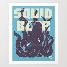 Squid-Bear Art Print