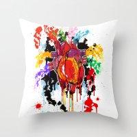 Bleed Creation Throw Pillow