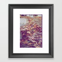 Autumn Path Framed Art Print
