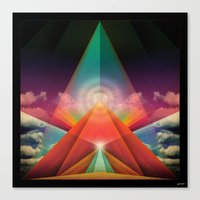 ∆ tune in Canvas Print