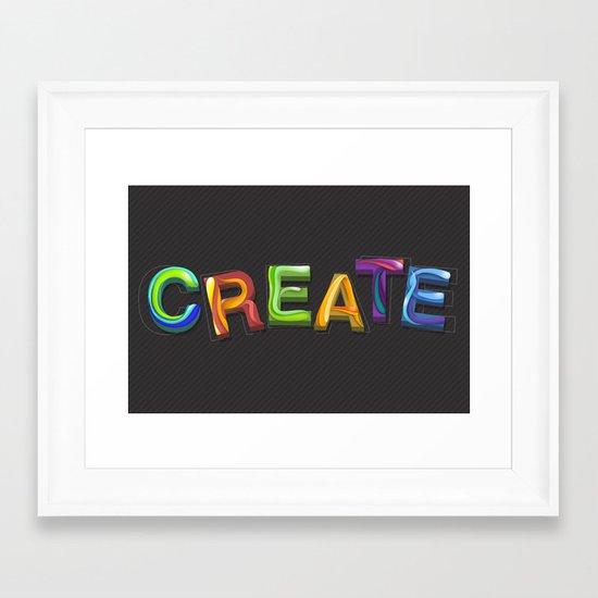Create! Framed Art Print