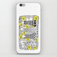 iPhone & iPod Skin featuring Zentangle Girls - Black … by Vermont Greetings