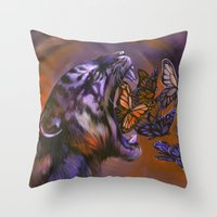 Gentle Roar Throw Pillow