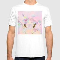 Jellyfishes Mens Fitted Tee White SMALL