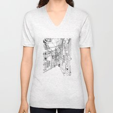 Osaka - downtown street Unisex V-Neck