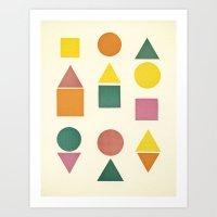 Shape Sorter Art Print