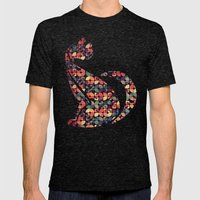 The Pattern Cat Mens Fitted Tee Tri-Black SMALL