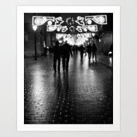 Night Walking Art Print