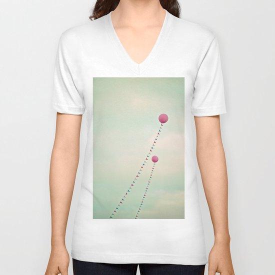 Whimsical Balloons V-neck T-shirt