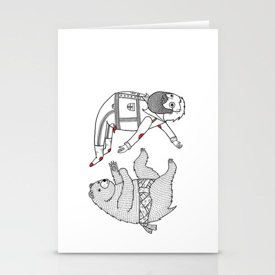 On the bear's uncontrollable urge to toss his master in the air Stationery Card