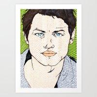 Dotted Castiel Art Print