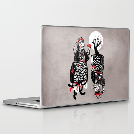Queen and King of Hearts Laptop & iPad Skin