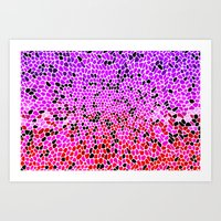 THINK LILAC CORAL Art Print