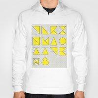 'ㄱ,ㄴ,ㄷ,ㄹ' (Korean Alphabet-Yellow) Hoody