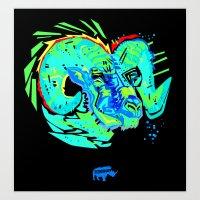Nalubuff - Big Horn Art Print