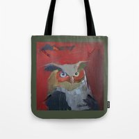 Great Horned Owl pillow Tote Bag