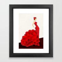 The Dancer (Flamenco) Framed Art Print