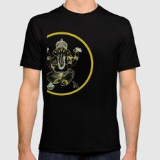 GANESHA Mens Fitted Tee Black SMALL