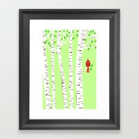 Spring Cardinal Wall Art Framed Art Print
