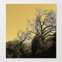 Golden Branches Canvas Print
