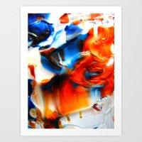 signal cascade Art Print
