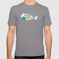 Take It Easy Mens Fitted Tee Tri-Grey SMALL