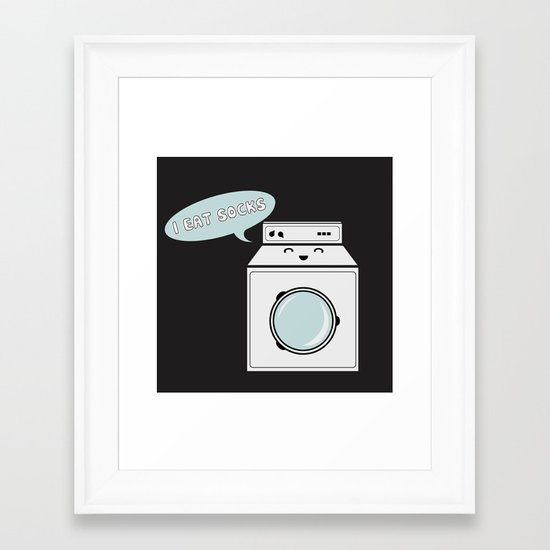 Om Nom Framed Art Print