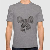 Watercolour Bow Mens Fitted Tee Tri-Grey SMALL