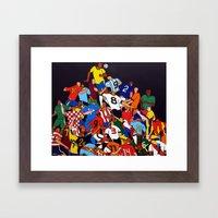 BRASIL X ALL Framed Art Print