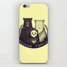Modern Bear Family (Yellow) iPhone & iPod Skin