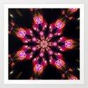 Purple Fire Snowflake Art Print